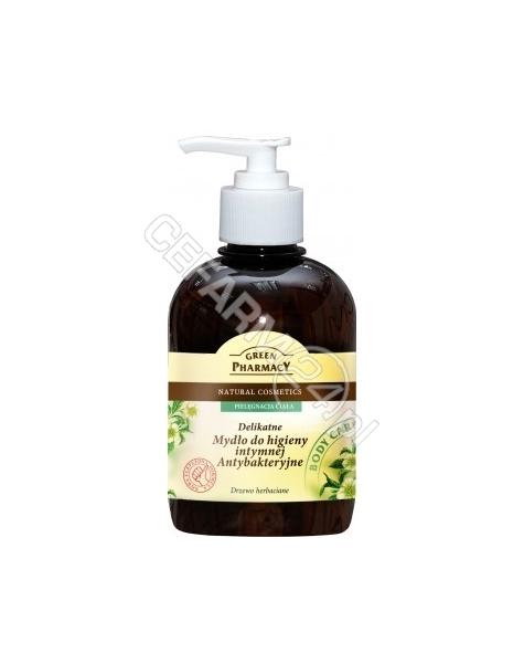ELFA PHARM Green Pharmacy delikatne mydło do higieny intymnej antybakteryjne Drzewo Herbaciane 370 ml
