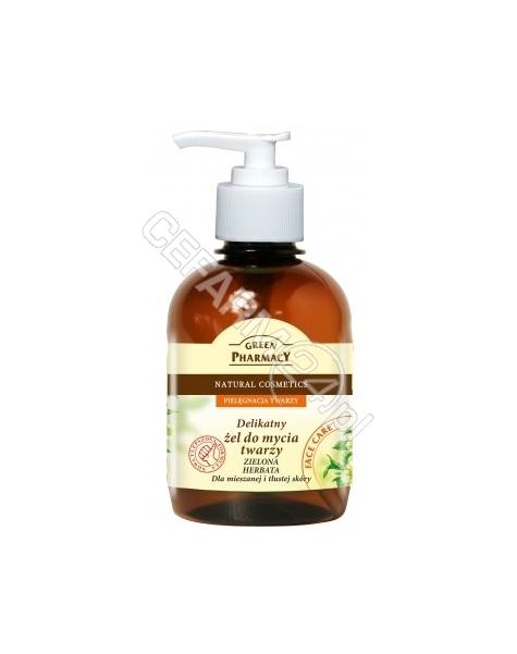 ELFA PHARM Green Pharmacy delikatny żel do mycia twarzy Zielona Herbata dla mieszanej i tłustej skóry 270 ml