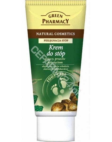 ELFA PHARM Green Pharmacy krem do stóp gojący, przeciw pęknięciom olejek z Orzechów Włoskich, ekstrakt z Babki 50 ml