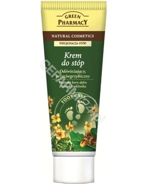 ELFA PHARM Green Pharmacy krem do stóp odświeżający, przeciwgrzybiczny ekstrakt z Kory Dębu, ekstrakt z jaskółczego ziela75 ml
