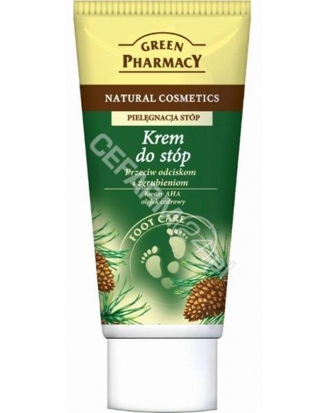 ELFA PHARM Green Pharmacy krem do stóp przeciw odciskom i zgrubieniom Kwasy AHA, olejek cedrowy 50 ml