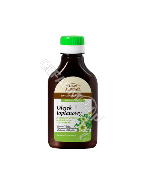 ELFA PHARM Green Pharmacy olejek łopianowy z olejkami drzewa herbacianego i rozmarynu przeciwłupieżowy 100 ml