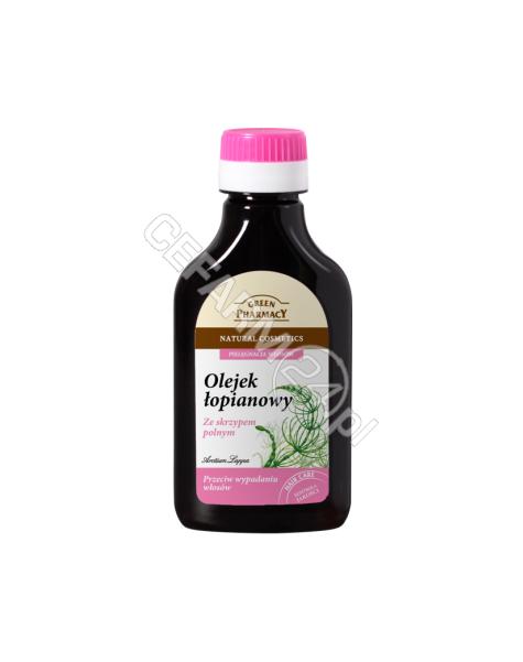 ELFA PHARM Green Pharmacy olejek łopianowy ze skrzypem polnym przeciw wypadaniu włosów 100 ml