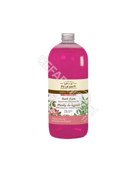 ELFA PHARM Green Pharmacy pianka do kąpieli róża i zielona herbata 1000 ml