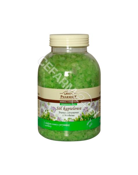 ELFA PHARM Green Pharmacy sól kąpielowa Trawa Cytrynowa i Werbena 1300 g