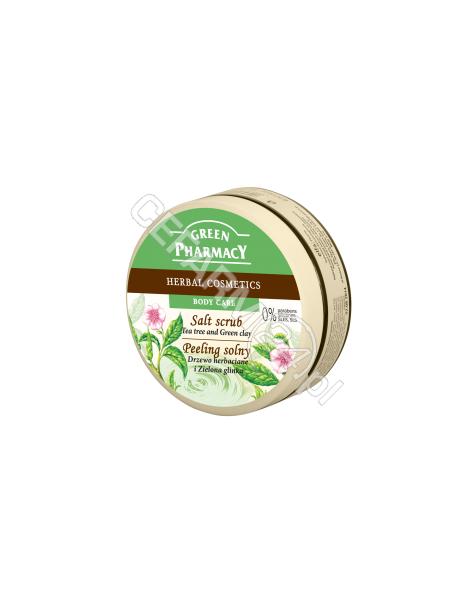 ELFA PHARM Green Pharmacy solny peeling do ciała drzewo herbaciane i zielona glinka 300 ml