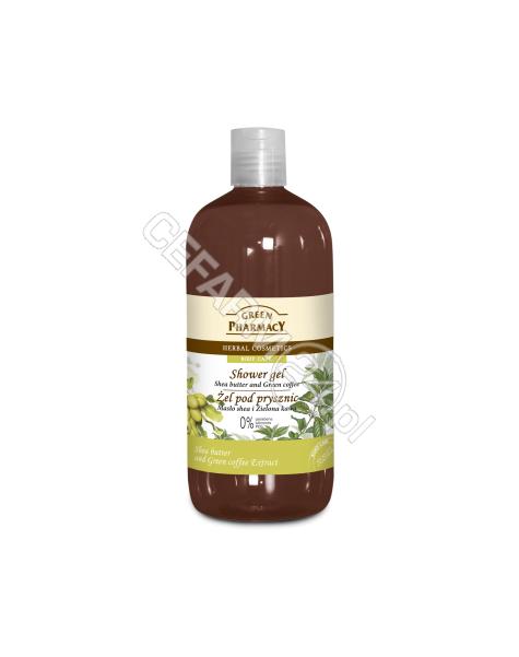 ELFA PHARM Green Pharmacy żel pod prysznic masło shea i zielona kawa 500 ml