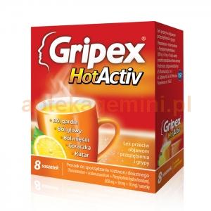 US PHARMACIA SP. Z O.O. Gripex HotActiv 8 saszetek