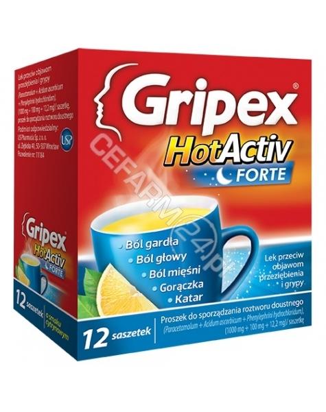US PHARMACIA Gripex hotactiv forte x 12 sasz o smaku cytrynowym