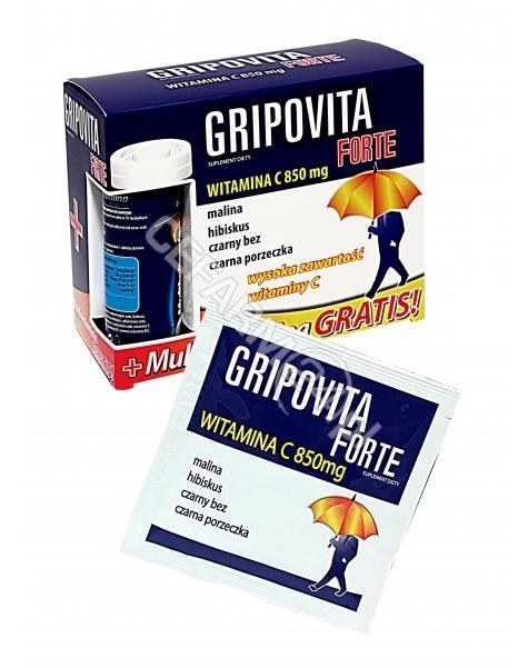 N.P. PHARMA SP Z O. O. Gripovita forte x 10 sasz + Zdrovit multiwitamina x 10 tabl musujących