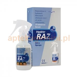 SOLPHARM Hedrin Raz, żel w sprayu, 60ml