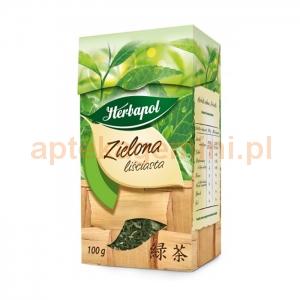 HERBAPOL LUBLIN Herbata Zielona liściasta, 100g