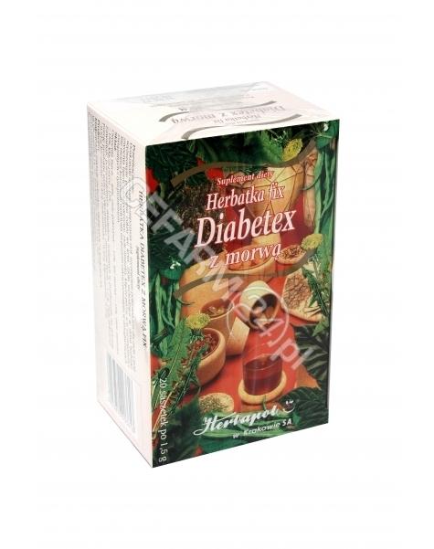 HERBAPOL KRA Herbatka diabetex z morwą 1,5 g x 20 sasz