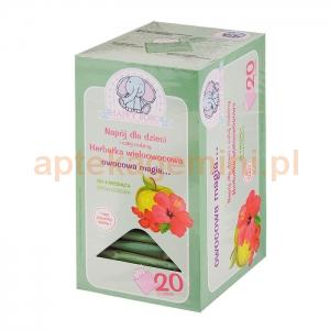ARTIFEX Herbatka wieloowocowa, Owocowa magia, od 4 miesiąca życia, 20 saszetek