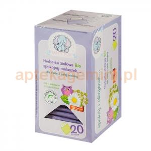 ARTIFEX Herbatka ziołowa Bio, Spokojny maluszek, od 4. miesiąca życia, 20 saszetek