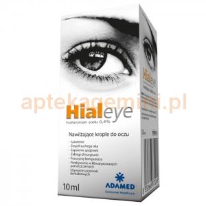 Adamed Hialeye 0,4%, nawilżające krople do oczu, 10ml