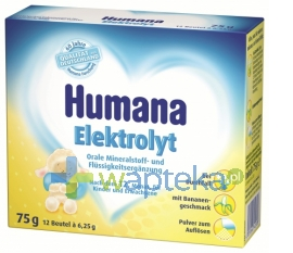 HUMANA GMBH HUMANA Elektrolit o smaku bananowym po 12 miesiącu 12 saszetek