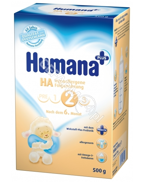 HUMANA Humana ha 2 premium z prebiotykiem 500 g