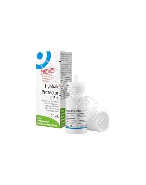 PHARM SUPPLY Hyabak protector nawilżające krople do oczu 10 ml