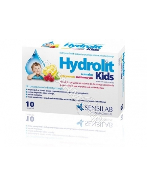 SENSILAB Hydrolit kids o smaku cytrynowo - malinowym x 10 sasz