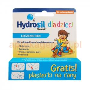 SEQUOIA Hydrosil dla dzieci, leczenie ran, żel, 20g + plasterki na rany