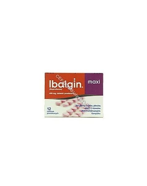 ZENTIVA Ibalgin maxi 400 mg x 12 tabl powl