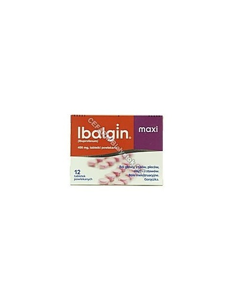 ZENTIVA Ibalgin maxi 400 mg x 24 tabl powl