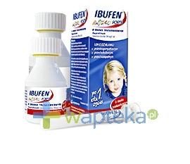 ZAKŁADY FARMACEUTYCZNE POLPHARMA S.A. Ibufen dla dzieci Forte smak truskawkowy zawiesina 100ml 6277