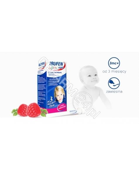 POLPHARMA Ibufen forte 200mg/5ml zawiesina dla dzieci o smaku malinowym 40 ml