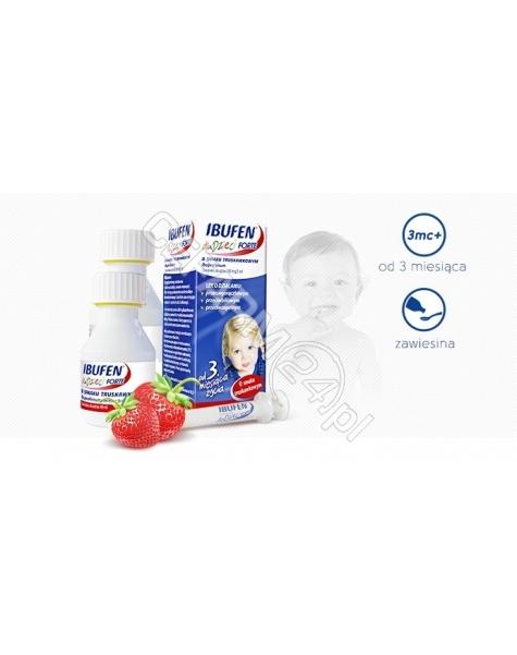 POLPHARMA Ibufen forte 200mg/5ml zawiesina dla dzieci o smaku truskawkowym 100 ml