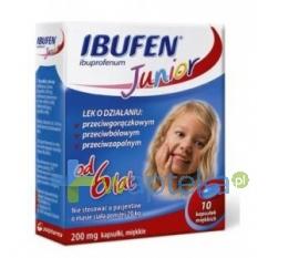 ZAKŁADY FARM. Ibufen Junior 200mg 10 kapsułek
