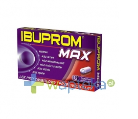 US PHARMACIA SP. Z O.O. Ibuprom MAX 12tabletek