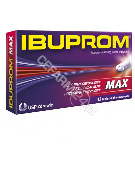 US PHARMACIA Ibuprom max 400 mg x 12 tabl drażowanych
