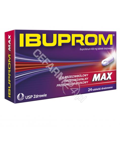 US PHARMACIA Ibuprom max 400 mg x 24 tabl drażowanych
