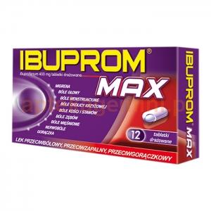 USP ZDROWIE Ibuprom MAX 400mg, 12 tabletek