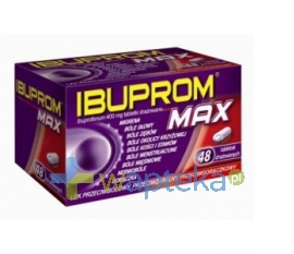 US PHARMACIA SP. Z O.O. Ibuprom MAX 48 tabletek