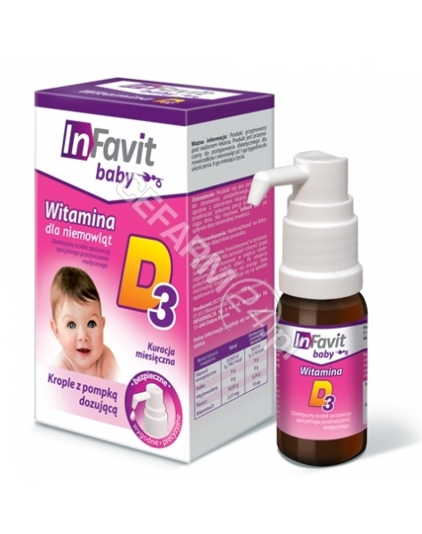 BIOTICOM InFavit baby witamina D3 krople 10 ml