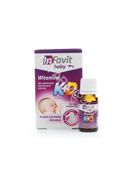 BIOTICOM InFavit baby witaminy K + D3 krople 10 ml