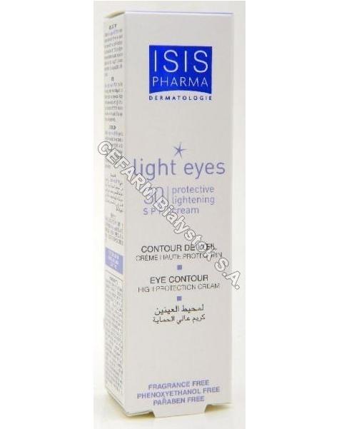 ISISPHARMA Isispharma light eyes - krem do okolicy oczu o właściwościach ochronnych i rozświetlających z filtrem spf30 15 ml