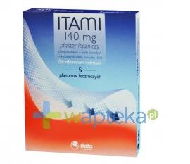 FIDIA FARMACEUTICI S.P.A. Itami plaster leczniczy 140mg 5 sztuk