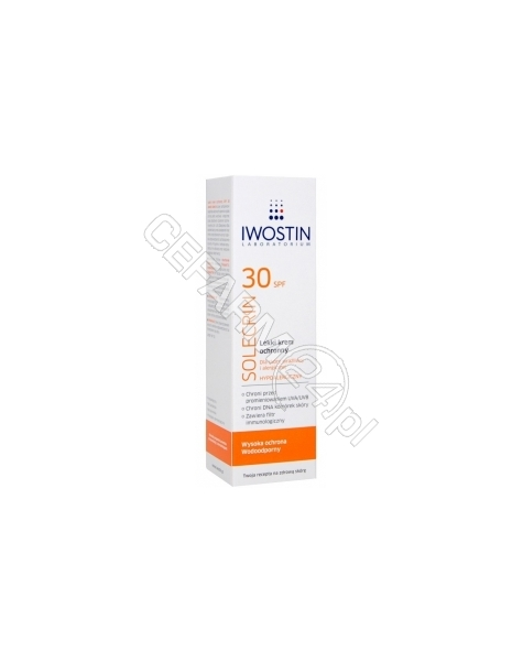 NEPENTES Iwostin solecrin krem lekki ochronny spf-30 50 ml + torba plażowa (data ważności <span class=