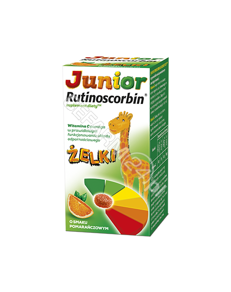 GLAXOSMITHKL Junior rutinoscorbin x 50 żelków o smaku pomarańczowym