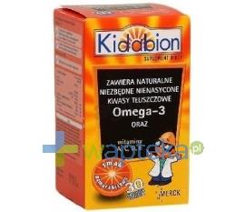 MERCK SP.Z O.O. Kidabion o smaku pomarańczowym 30 kapsułek do żucia