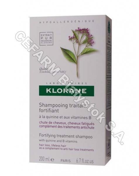 KLORANE Klorane szampon do włosów na bazie wyciągu z chininy i witamin b 200 ml