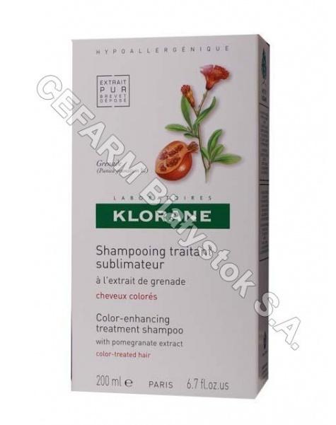 KLORANE Klorane szampon do włosów na bazie wyciągu z granatu 200 ml