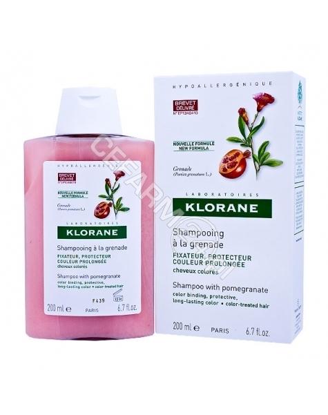 KLORANE Klorane szampon do włosów na bazie wyciągu z granatu 400 ml