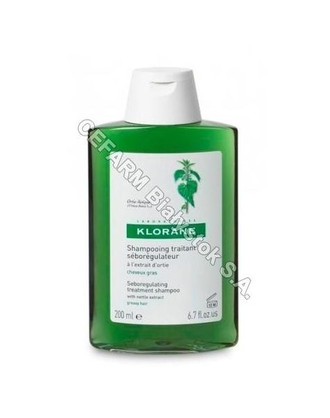 KLORANE Klorane szampon do włosów na bazie wyciągu z pokrzywy 400 ml