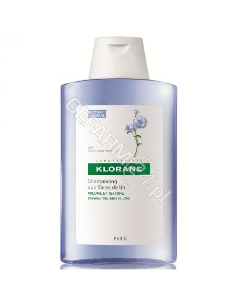 KLORANE Klorane szampon na bazie włókien lnu 400 ml