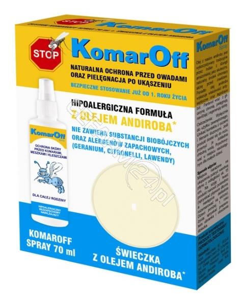 DOMOWA APTEC Komaroff zestaw - Komaroff spray 70 ml + ŚWIECZKA Z OLEJEM ANDIROBA