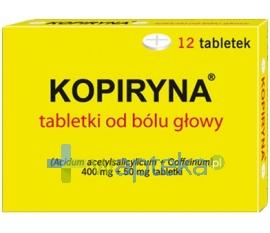 ARROW POLAND S.A. Kopiryna od bólu głowy 0,4g+0,05g 12 tabletek